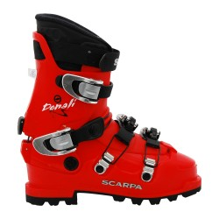 Gebrauchte Rando Skischuhe Scarpa Denali rot