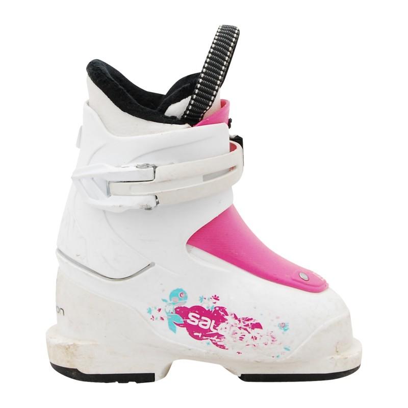 Chaussure de ski Junior Occasion Salomon JT1 blanc
