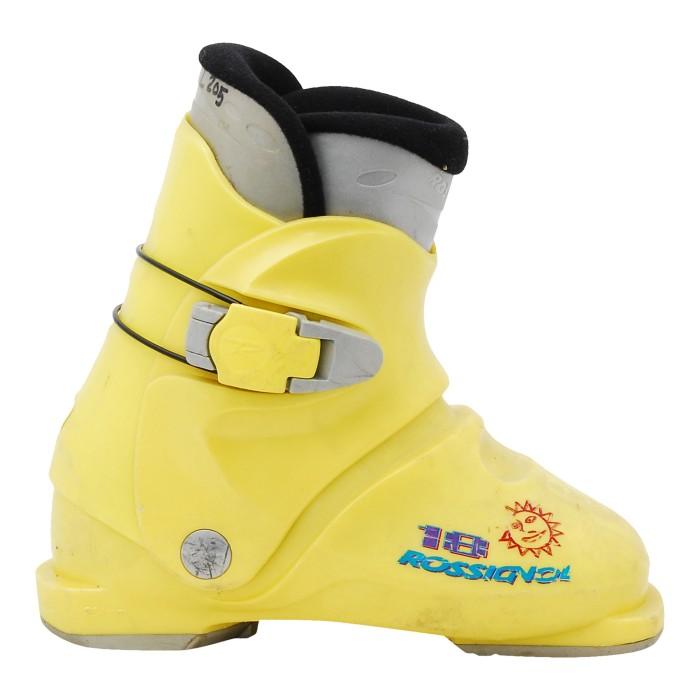 Yellow Rossignol Mini R 18 Junior Ski Shoe