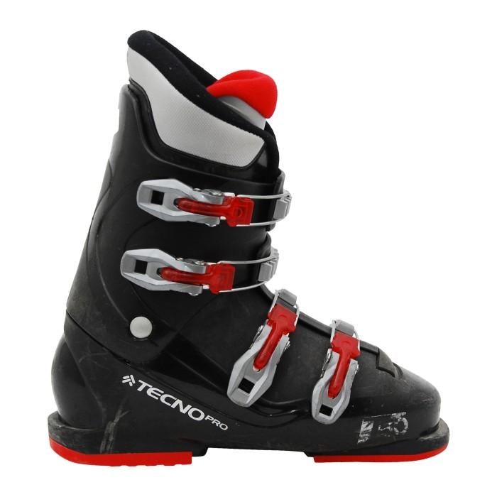 Junior Skischuh Tecno pro T50 schwarz rot