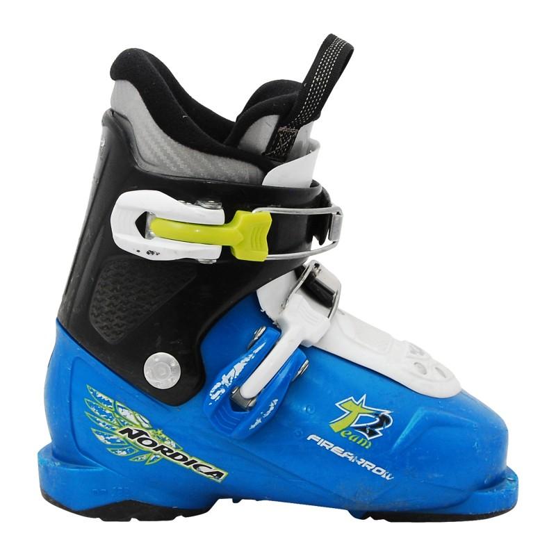 Chaussure de Ski Occasion Junior Nordica Team 3 firearrow bleu qualité A