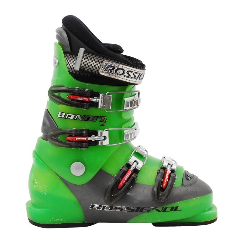 Chaussure ski occasion junior Rossignol bandit vert Qualité A