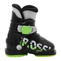 Junior used ski boot Rossignol comp j black green