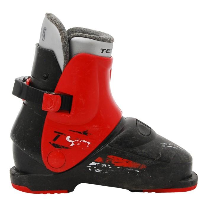 Chaussure de ski occasion junior Tecno pro T40 noir/rouge