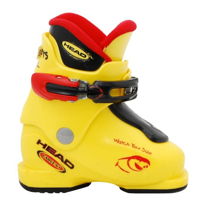 Yellow Junior Occasion Head Carve X Ski Shoe