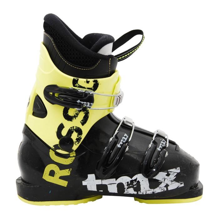 Chaussure de ski occasion junior Rossignol TMX noir jaune