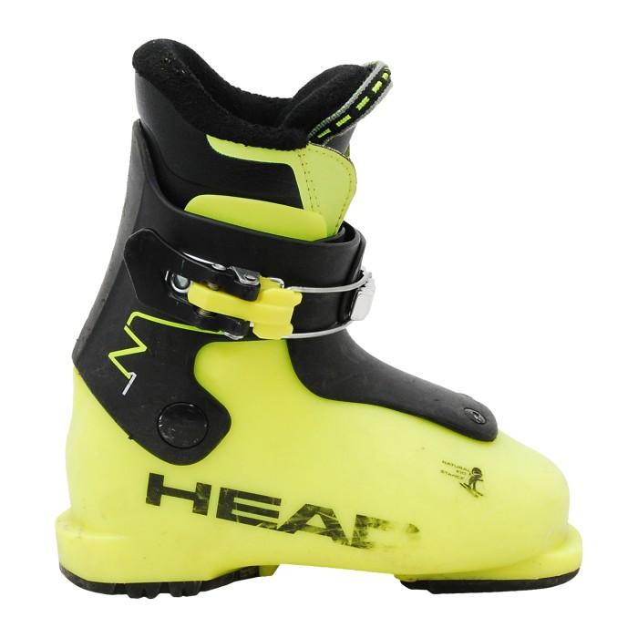 Junior usado Head Z bota de esquí negro/amarillo