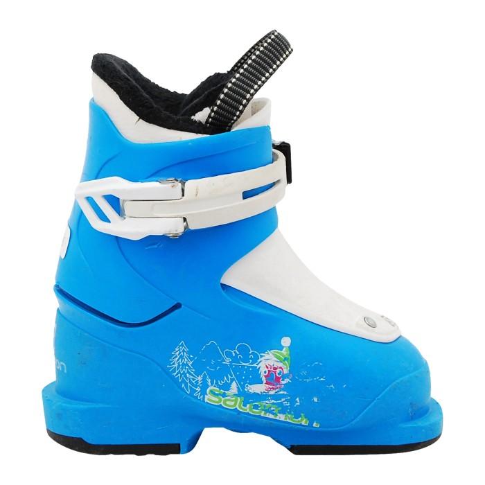 Junior usó bota de esquí Salomon Yeti azul