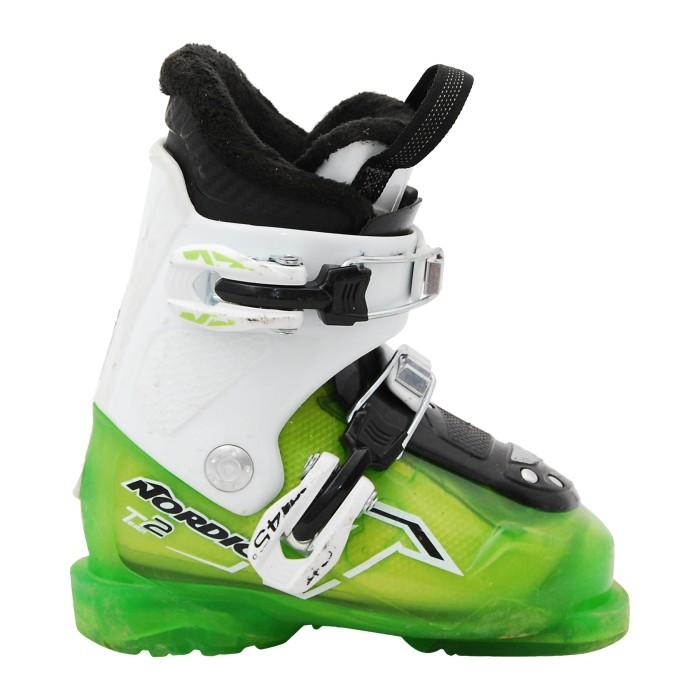 Ski Opportunity Junior Nordica Team scarpa da sci verde bianco
