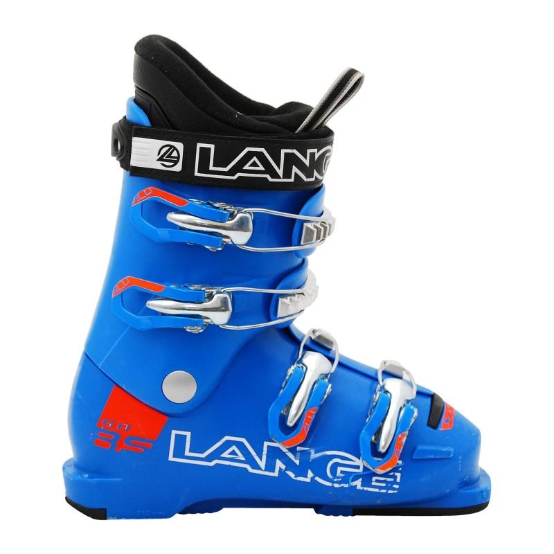 Chaussure de Ski Occasion Junior Lange RSJ 60R bleu/orange qualité A