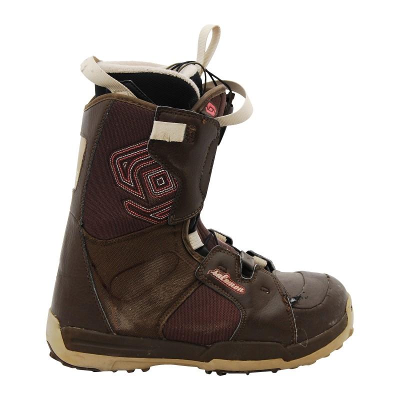 Boots occasion Salomon ecusson marron