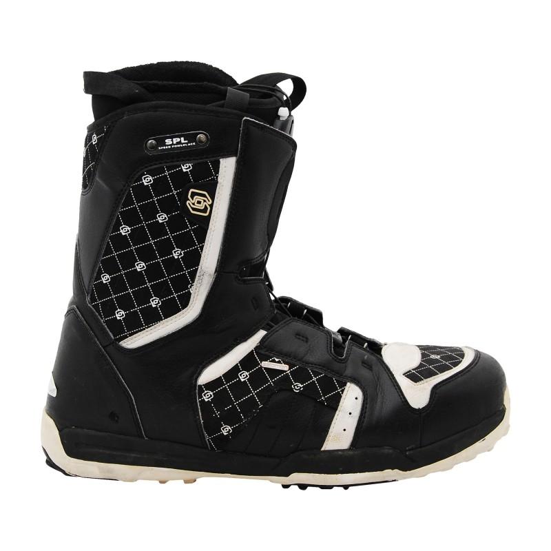Boots occasion de snowboard Salomon Symbio noir/blanc