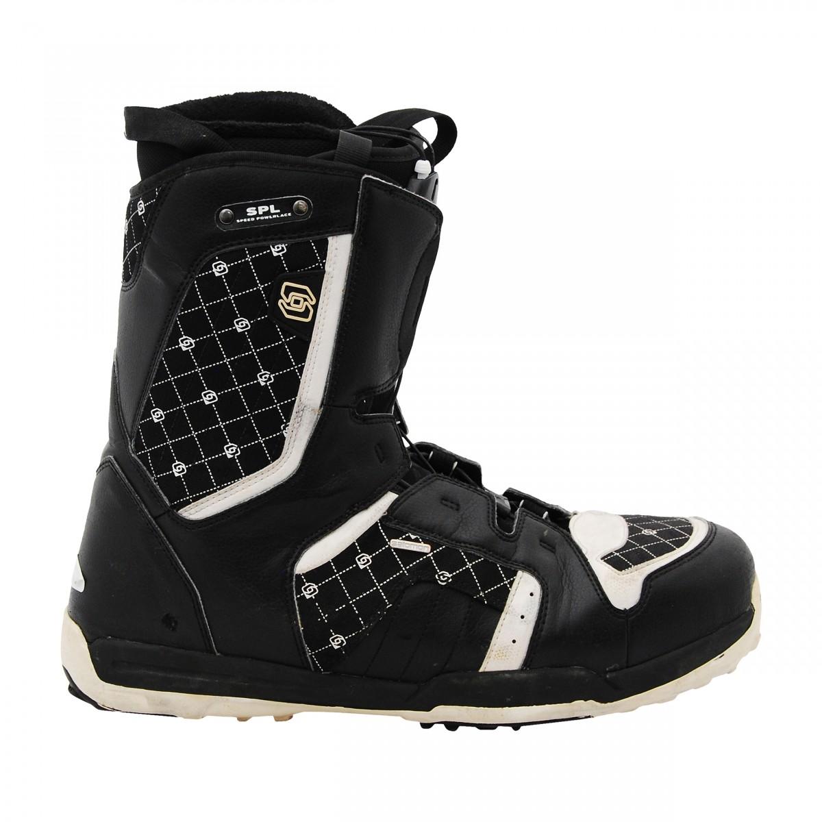 Détails sur Boots occasion de snowboard Salomon Symbio noirblanc