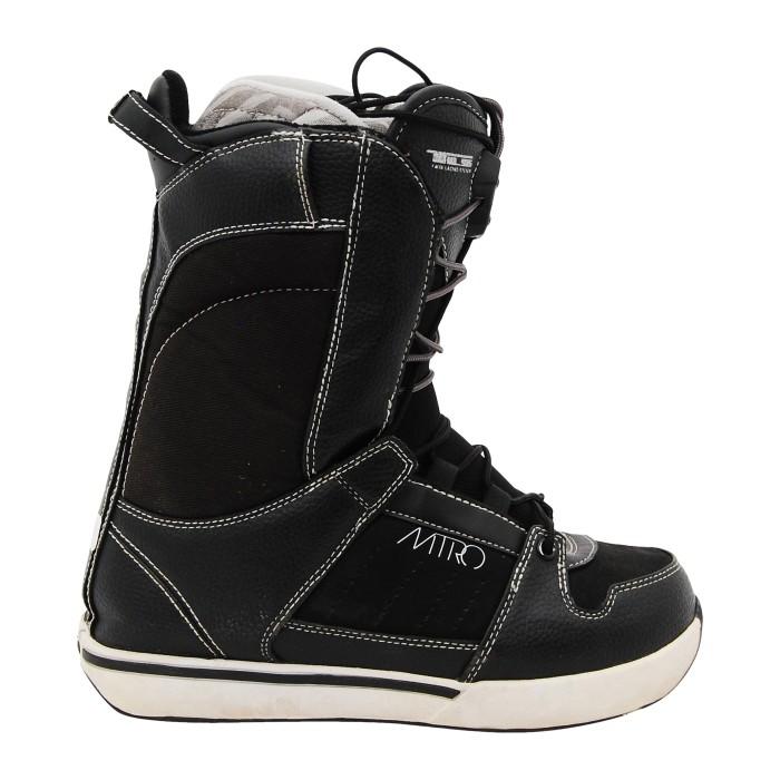 Boots de snowboard occasion Nitro vita tls noir et blanc.