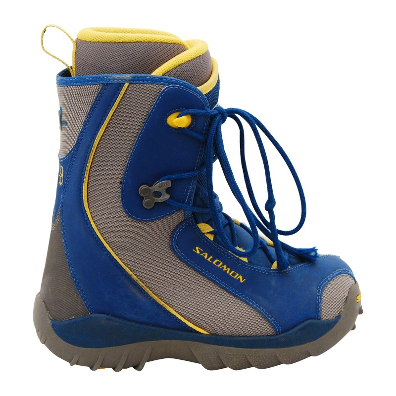 Boots occasion junior Salomon Talapus bleu/jaune