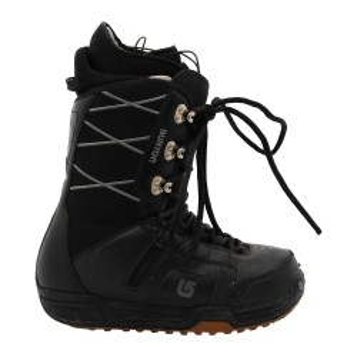 Used Burton motorcycle men's boots black