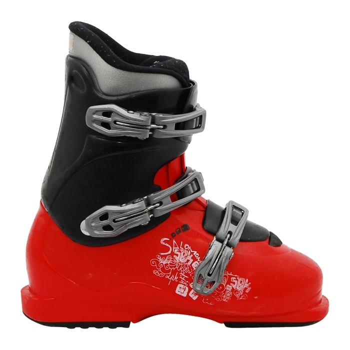 Chaussure ski occasion junior Salomon J SPK rouge et noir