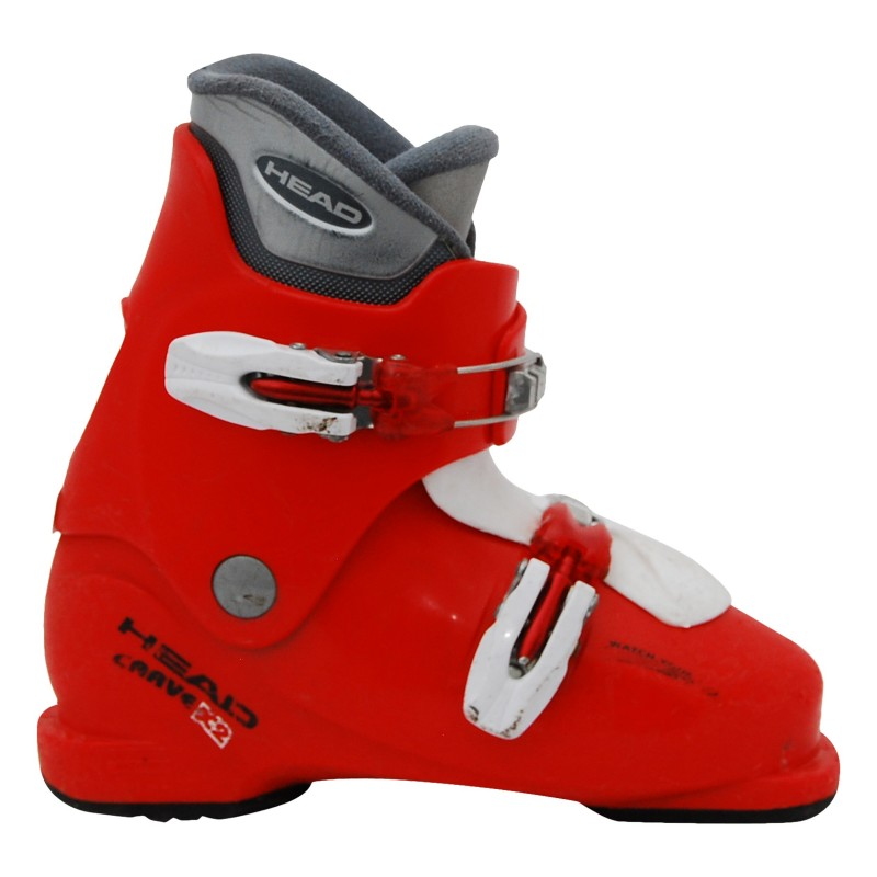 Chaussure de ski occasion junior Head carve x2 rouge blanc
