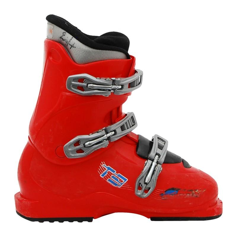 Chaussure ski occasion Salomon Junior T2 T3 rouge 2ème choix
