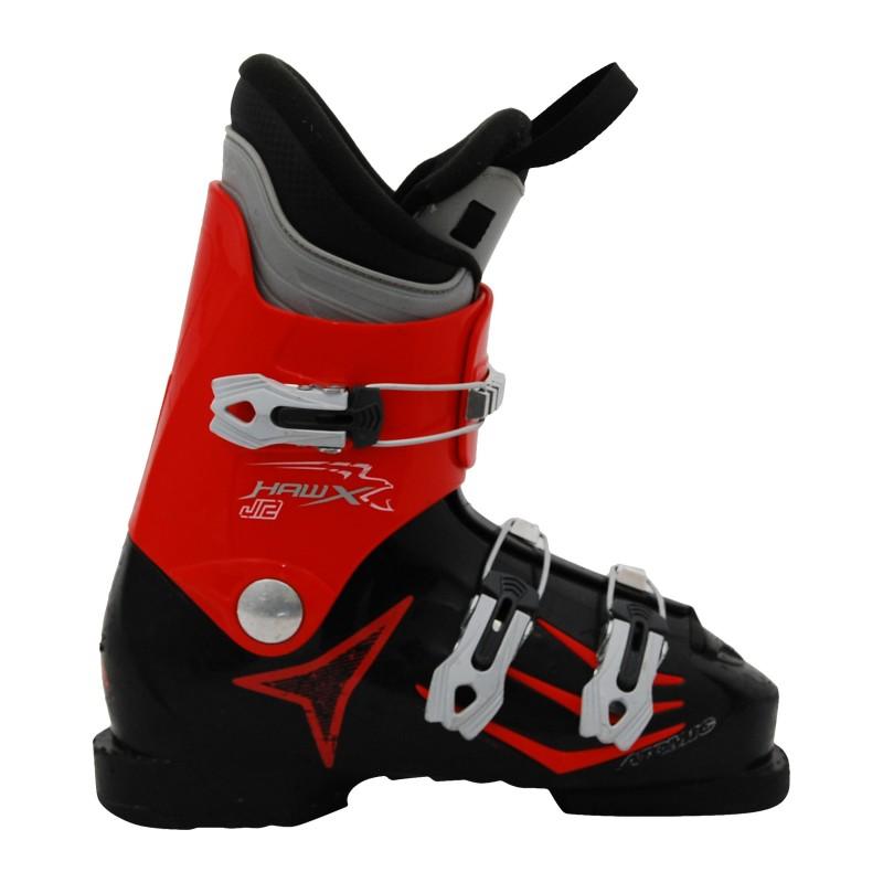 chaussure de ski d'occasion junior Atomic Hawx rouge et noir qualité A