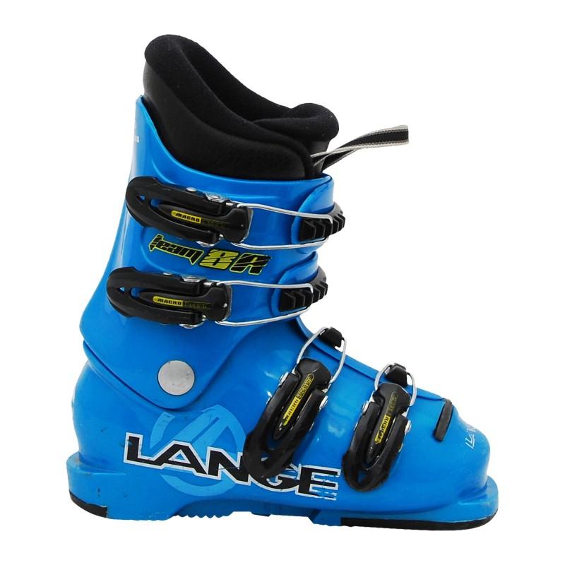 Chaussure de ski occasion Lange Team 7/8R bleu qualité A