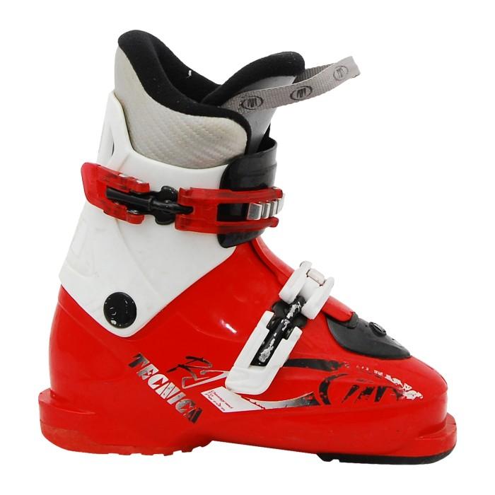 Junior Tecnica RJ Skischuh, rot und weiß