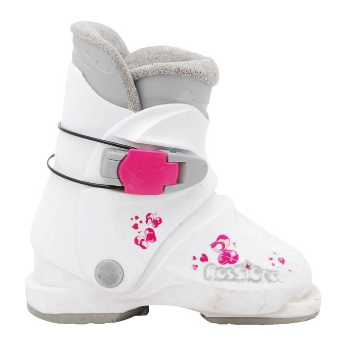 Chaussure ski occasion junior Rossignol r18 blanc