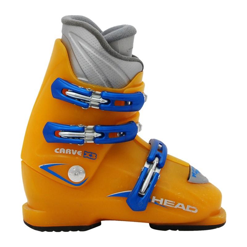 Chaussure de ski Junior Occasion Head Carve X2 X3 bleu /jaune qualité A