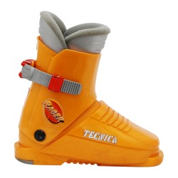 Junior Tecnica Racer orange Skischuh