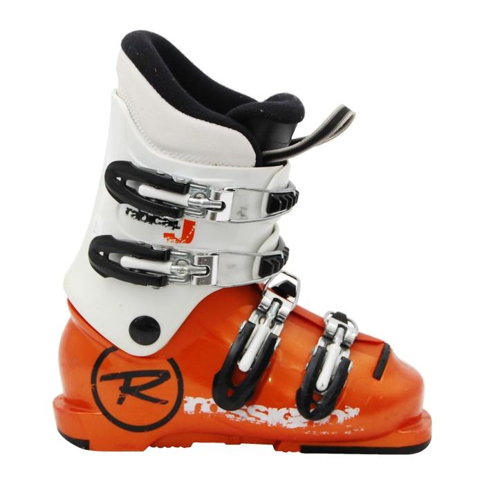Chaussure de ski occasion junior Rossignol comp Radical J orange et blanc