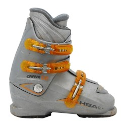 Junior Head Carve Grau / Orange Skischuh