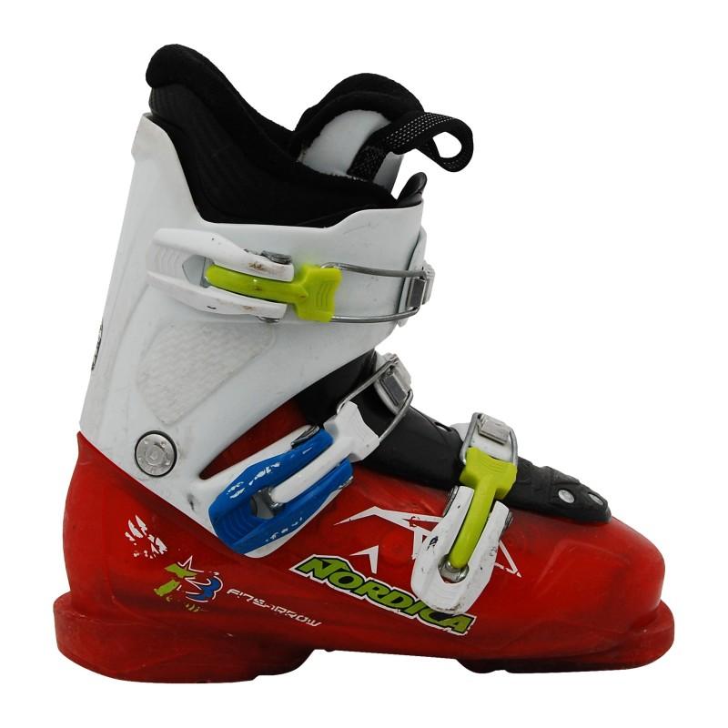 Chaussure de Ski Occasion Junior Nordica firearrow blanc et rouge qualité A