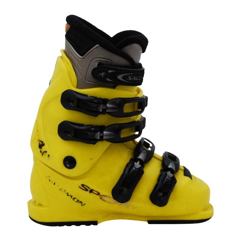 Chaussure ski occasion junior Salomon sport team performa 4.0 jaune