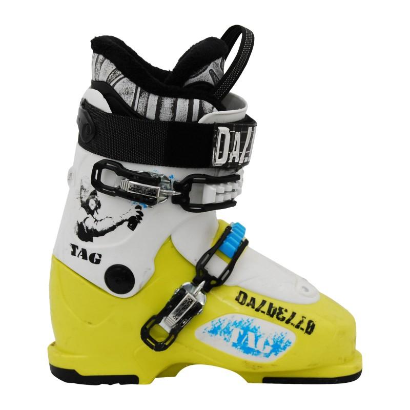 Chaussure de ski occasion junior Dalbello Tag jaune/blanc qualité A