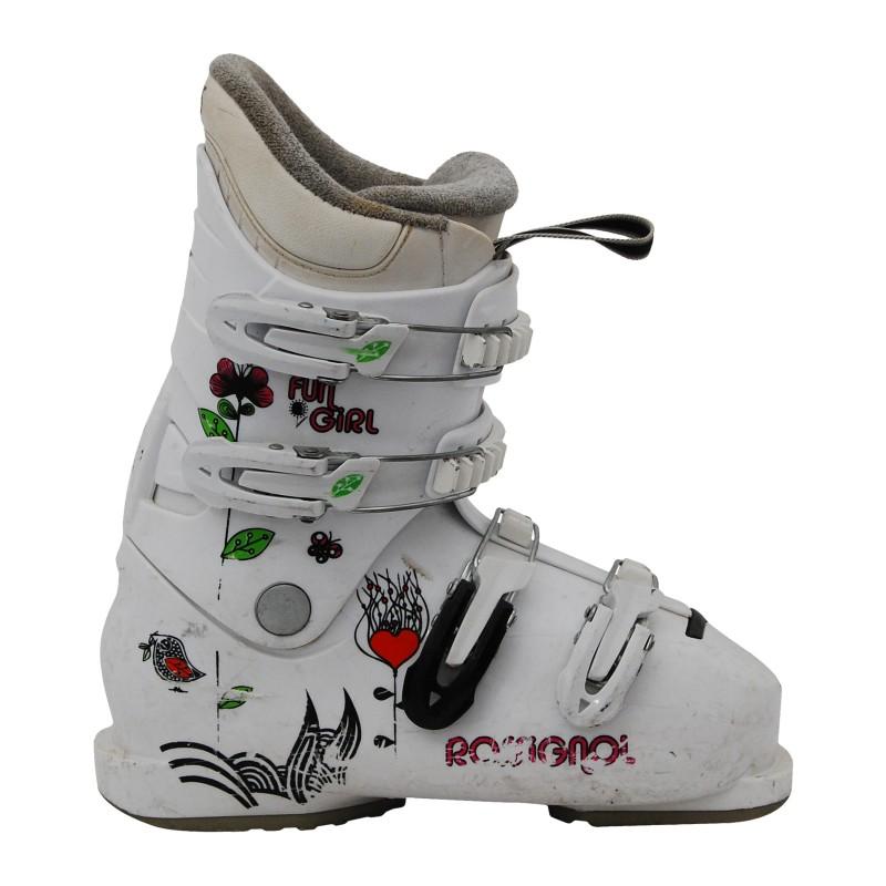 Chaussure de ski occasion junior Rossignol fun girl champêtre qualité A