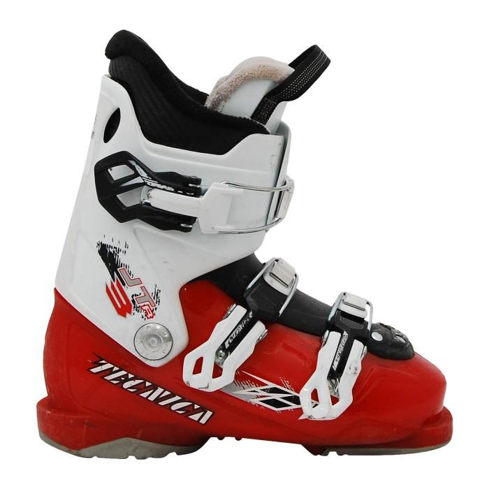 Botas de esquí junior usadas Tecnica JT rojo blanco