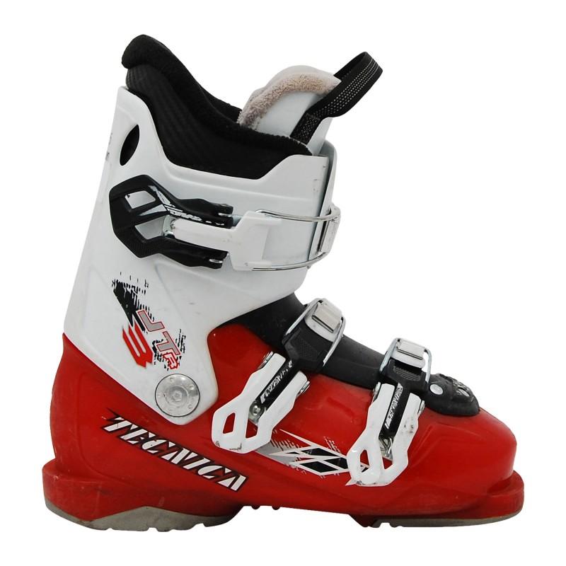 Chaussure de ski Junior Occasion Tecnica JT blanc rouge qualité A