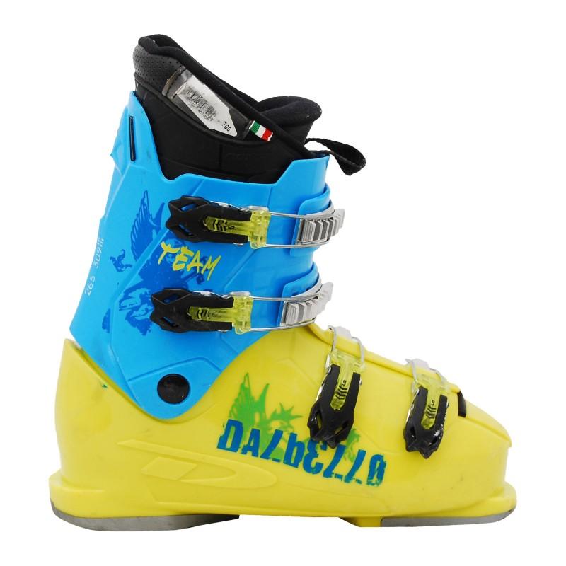 Chaussure de ski occasion junior Dalbello CX R2/3 bleu/jaune qualité A