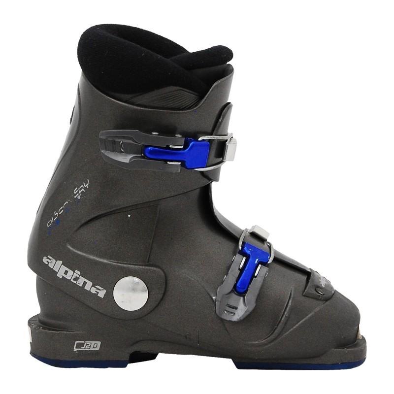 Chaussure de ski junior occasion Alpina discovery gris
