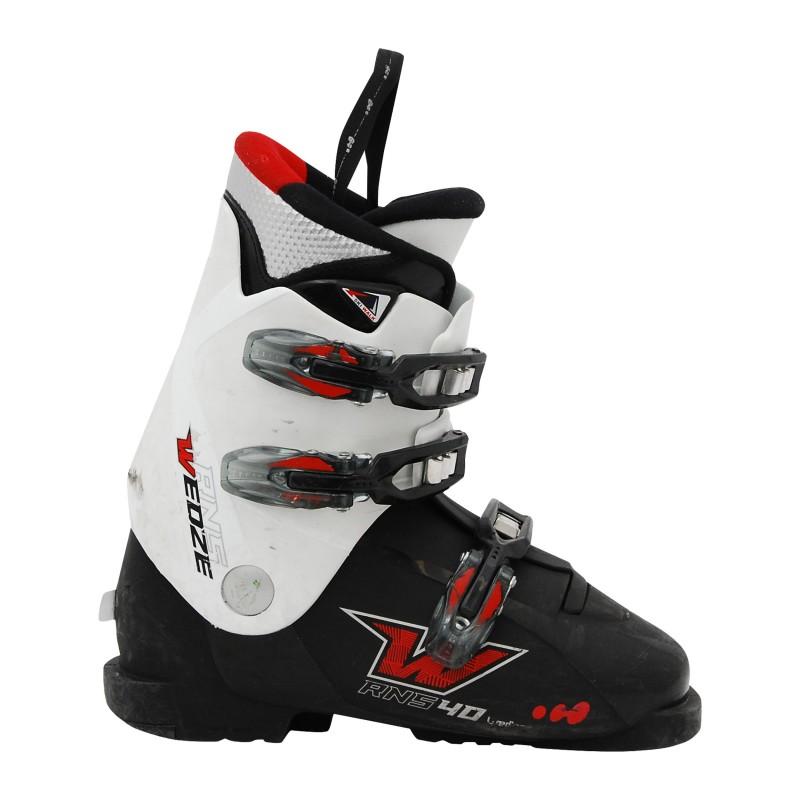 Chaussure ski junior occasion wed'ze RNS 40 noir/blanc catégorie B