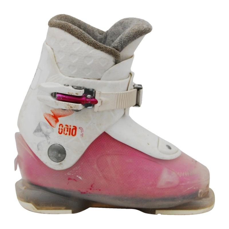 Chaussure de ski occasion Dalbello junior gaia 3/4 rose blanc