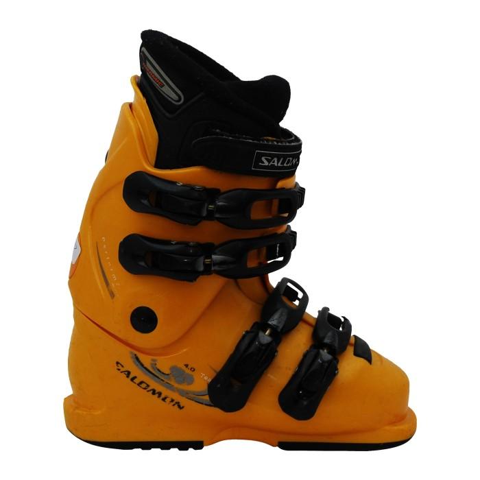 Junior gebrauchter Skischuh Salomon führt 4.0 orange