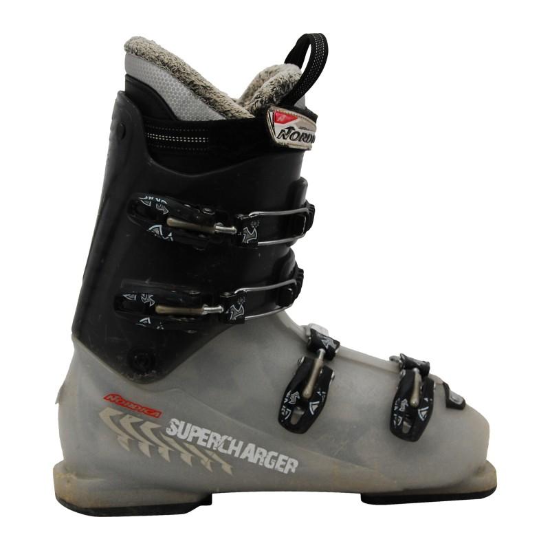Chaussure de Ski Occasion Junior Nordica Supercharger gris translucide qualité A