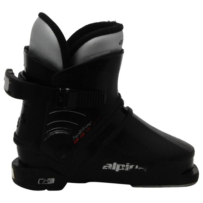 Alpina schneller schwarzer junior skischuh