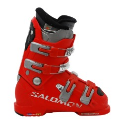 Chaussure ski occasion Salomon Junior course rouge