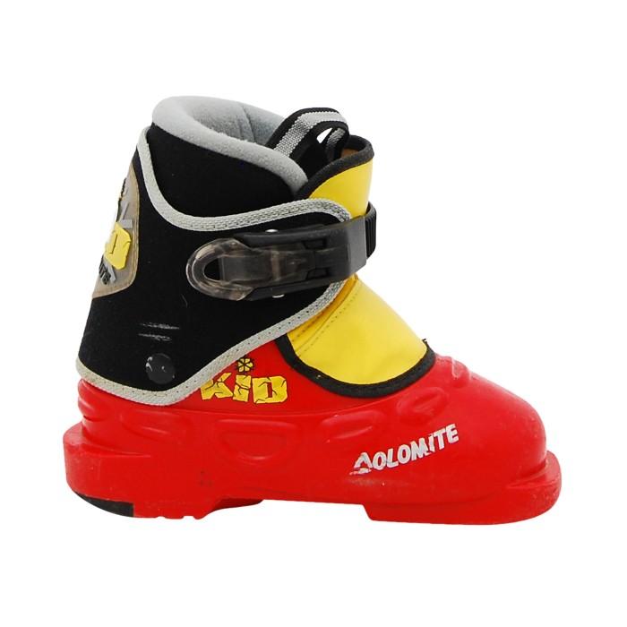 Ski Boot Junior Dolomite Kid Red Yellow