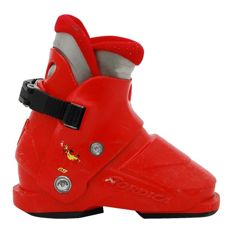 Chaussure de Ski Occasion Junior Nordica super 0,1 rouge