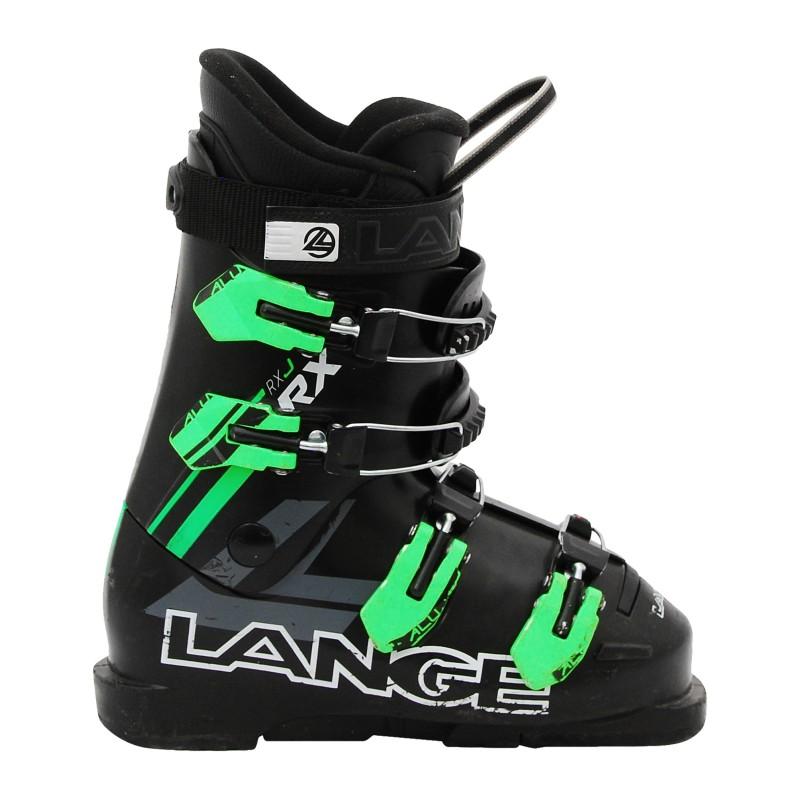 Chaussure de Ski Occasion Junior Lange RXj noir vert gris qualité A