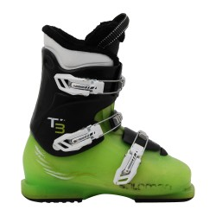 Salomon T2 T3 black/green junior used ski boot