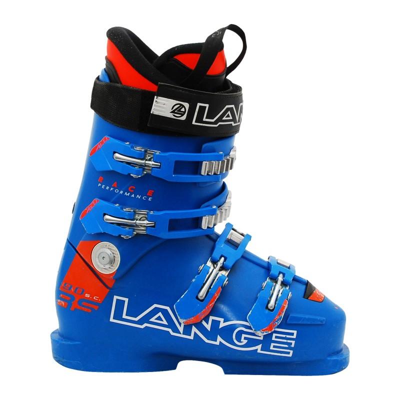 Chaussure de Ski Occasion Junior Lange RS 90 SC bleu orange - Qualité A
